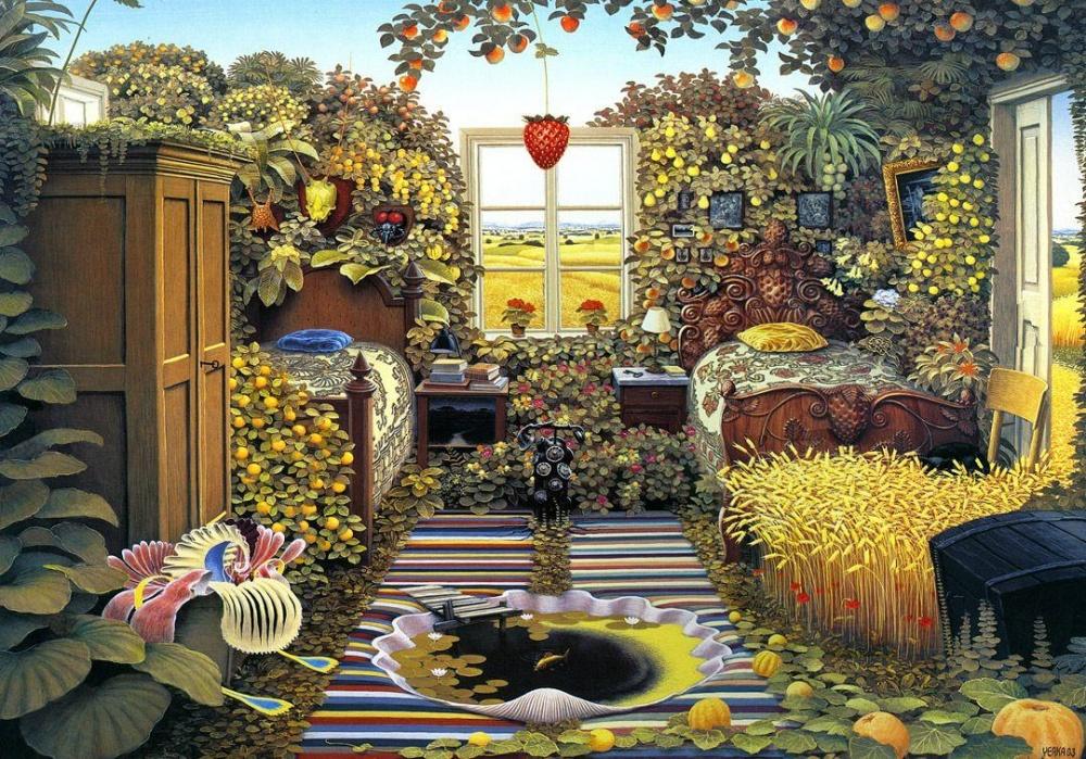 Яцек Йерка (Jacek Yerka)— талантливый художник-сюрреалист изПольши. Его картины реалистичны ифант