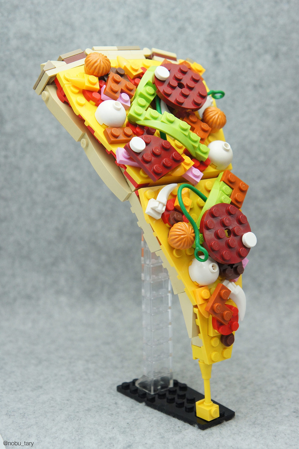 I don't think I've ever felt so hungry looking at Lego blocks! A Japanese Lego creator who goes by t