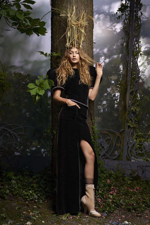 Couture Fairy Tale with Gigi Hadid for Harper's Bazaar October 2016 Issue