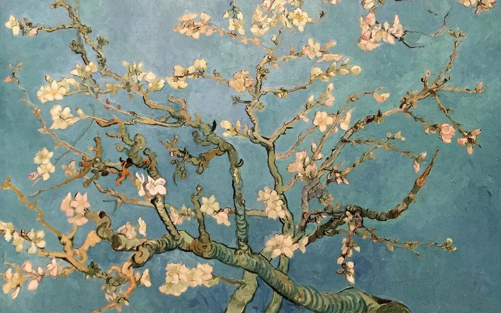 famous painting 'Almond Blossom'. Vincent van Gogh
