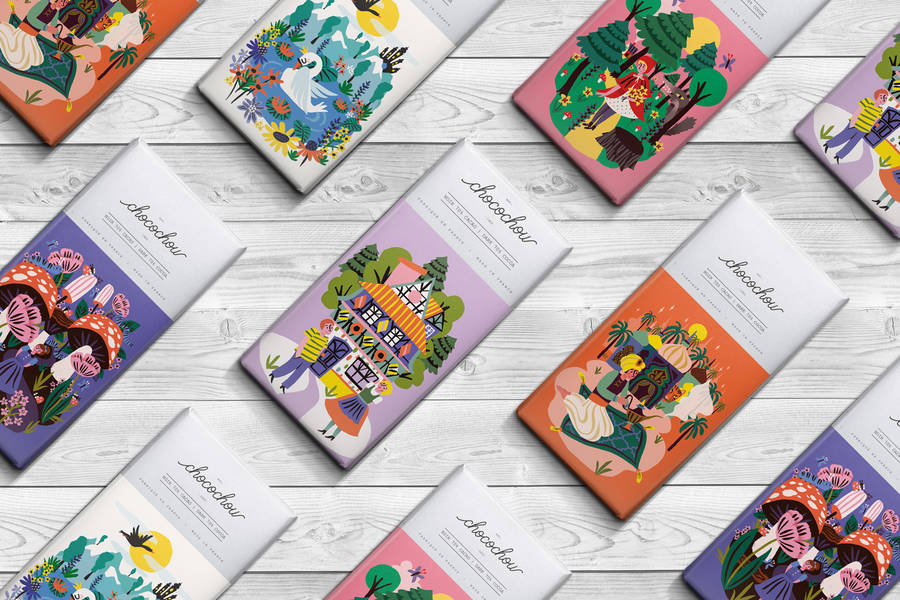 Adorable Fairy Tale Packaging for Chocolate