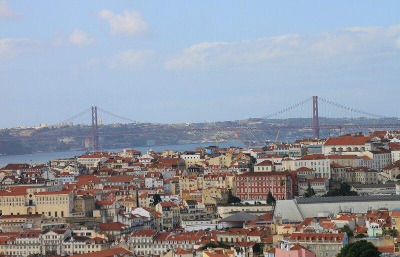 Лиссабон, вид с Сеньора ду Монте (Lisbon view from Senhora do Monte)