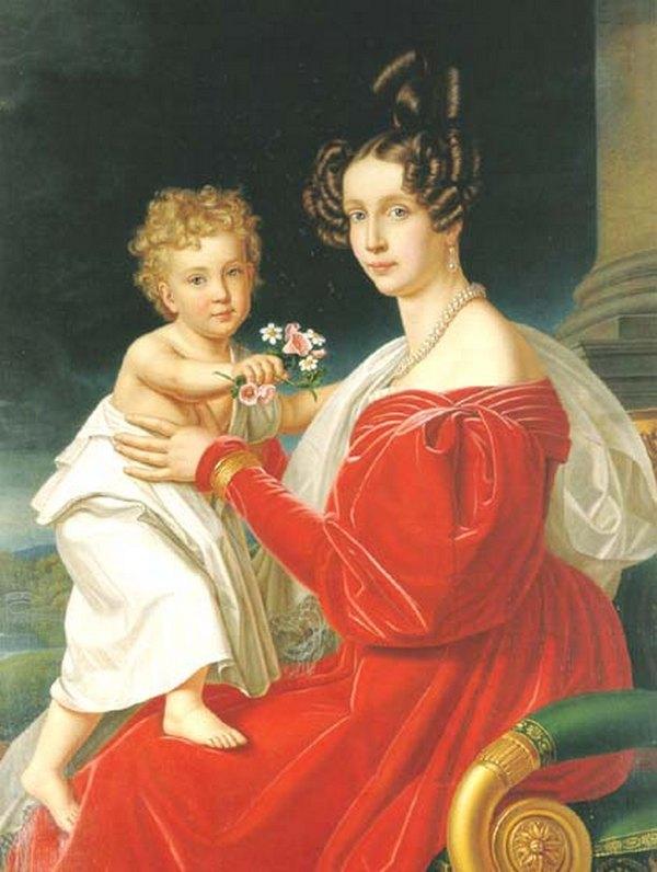 Franz Joseph impreuna cu mama sa, Prințesa Sofia de Bavaria.jpg