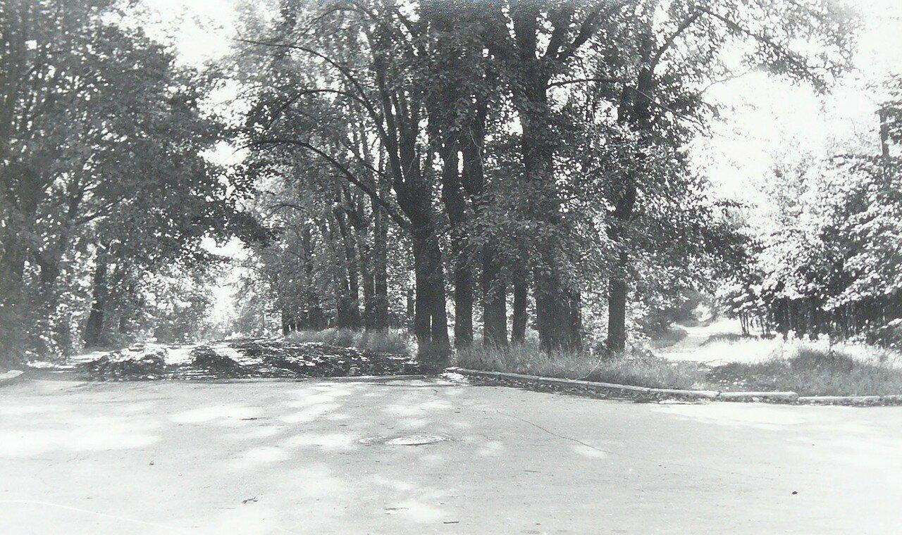 1973. Перекресток улицы Ширяево Поле (прямо) и 6-го Лучевого просека (вправо)