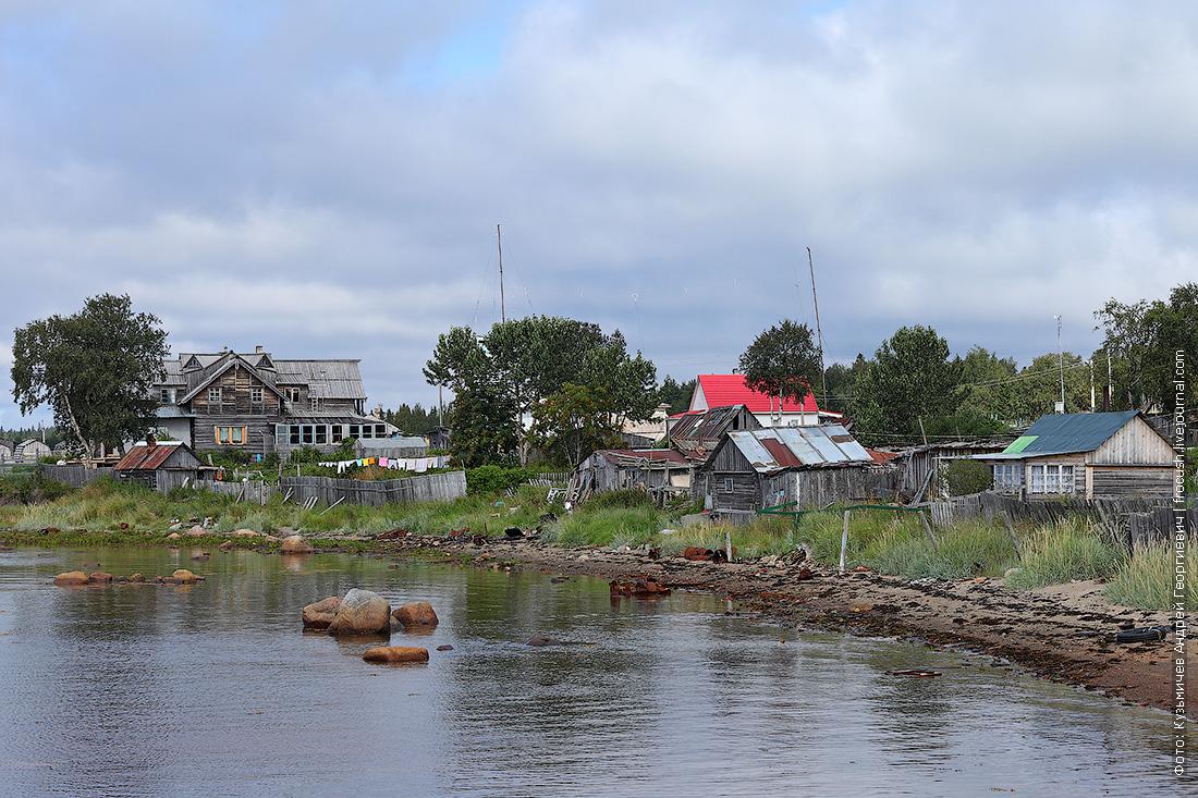 постройки местных жителей Соловки