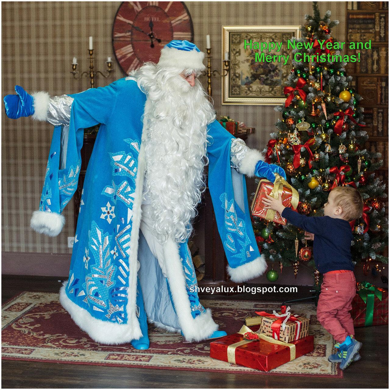 Дед мороз дарит подарок ребенок 99
