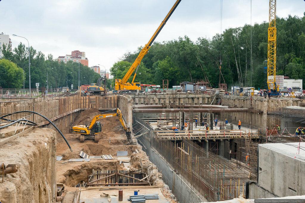 Вид на стройплощадку в сторону станции «Речной вокзал»