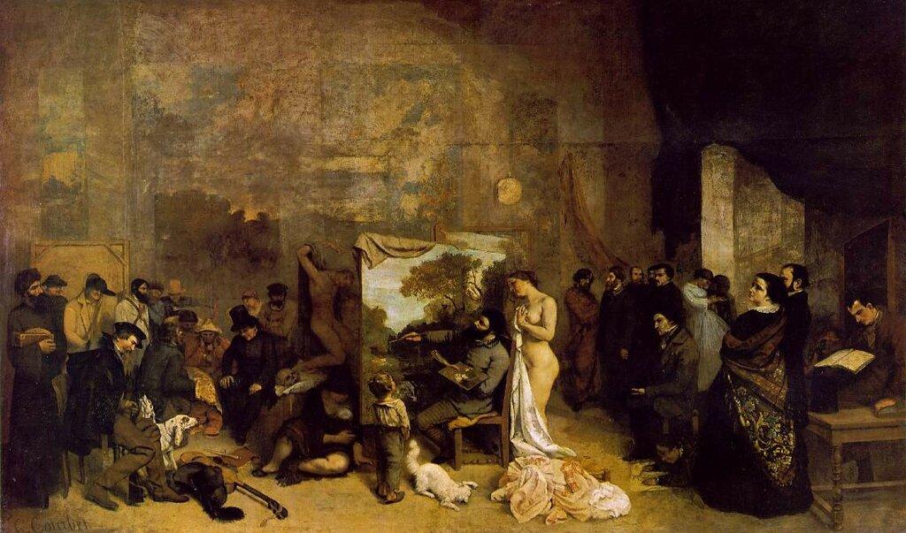 Гюстав Курбе: Студия художников - Реальная аллегория, 1855