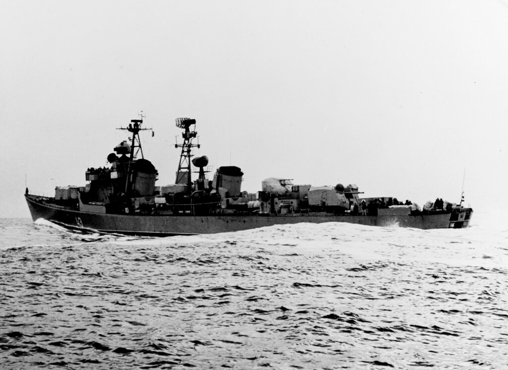 Soviet KOTLIN Class Destroyer photographed during mid-1959 in the Baltic Sea while wearing pennant number 43.