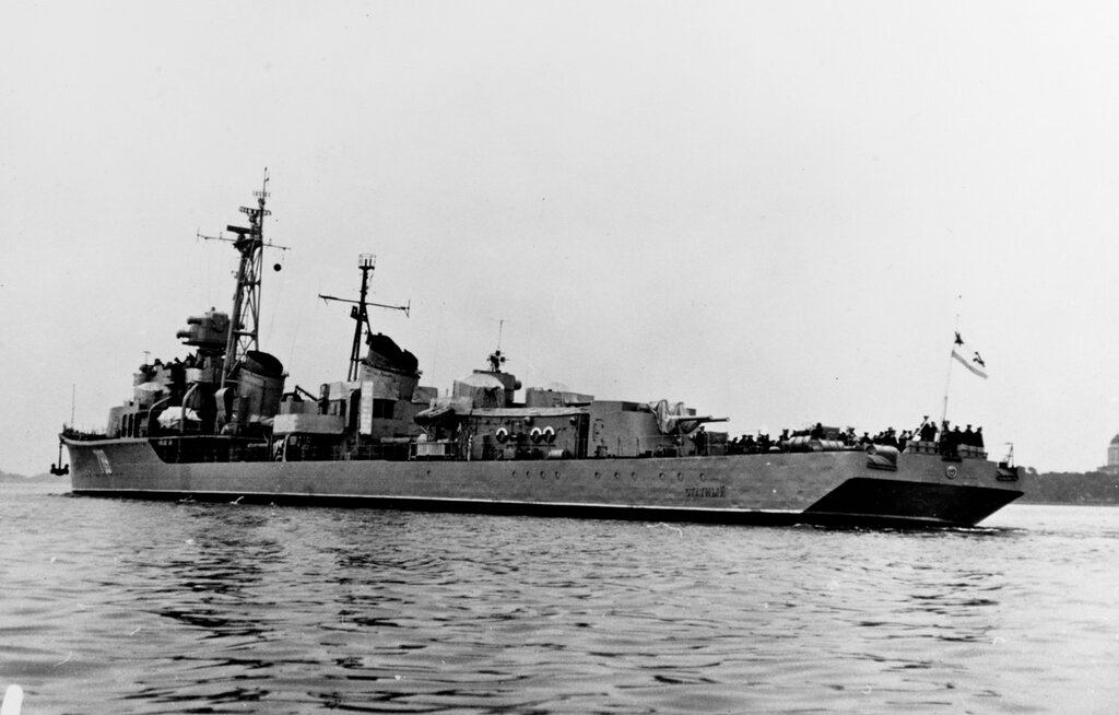 STATNYI (Destroyer) photographed on 10 August 1960 at Helsinki, Finland.