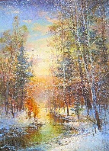 Авдеев Михаил Анатольевич ( родился в 1972 году). Начало зимы. 2017 год.