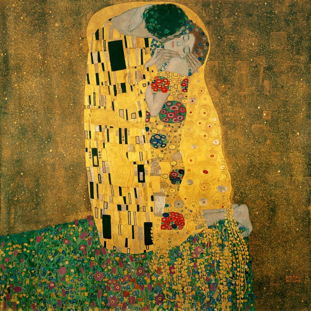 Густав Климт, «Поцелуй», 1907–1908