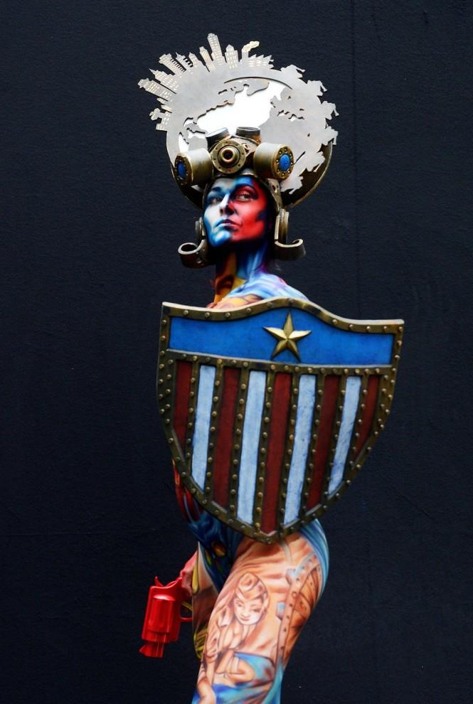 Мастер боди-арта: Heather Benson, Греция.