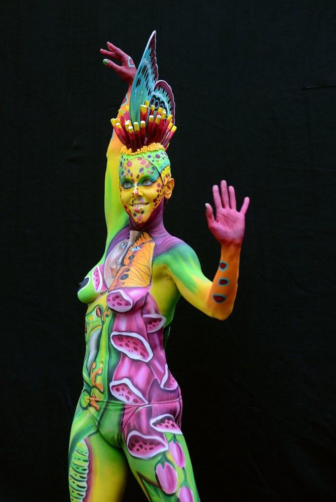 Мастер боди-арта: Jessica Watson Miller, Австралия.
