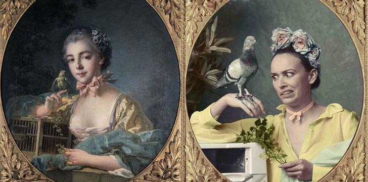 Слева — «Портрет Виктора Гюго», Леон Бонна, справа — @valhery.