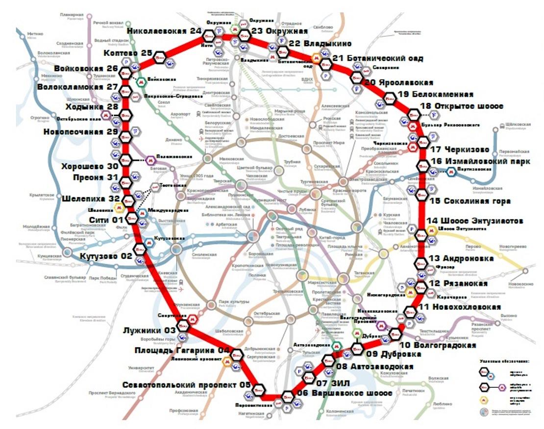 Карта Малого кольца МЖД. Источник- Пресс-материалы МКЖД