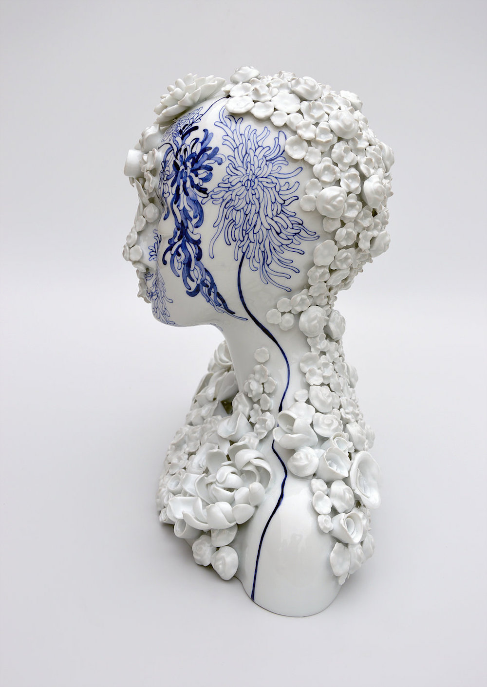 Porcelain Female Forms That Blur the Line Between Humans and Nature by Juliette Clovis