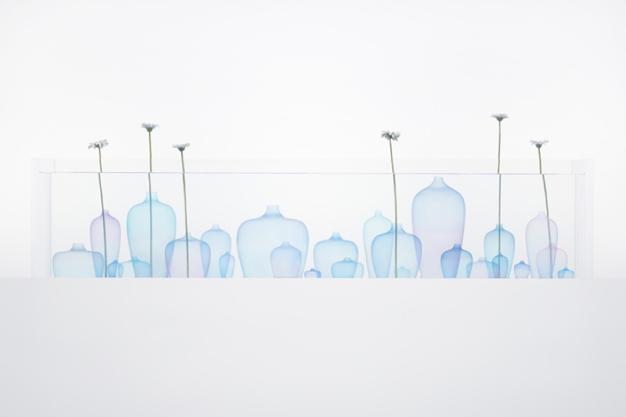 Poetic Jellyfish Vase Installation by Nendo