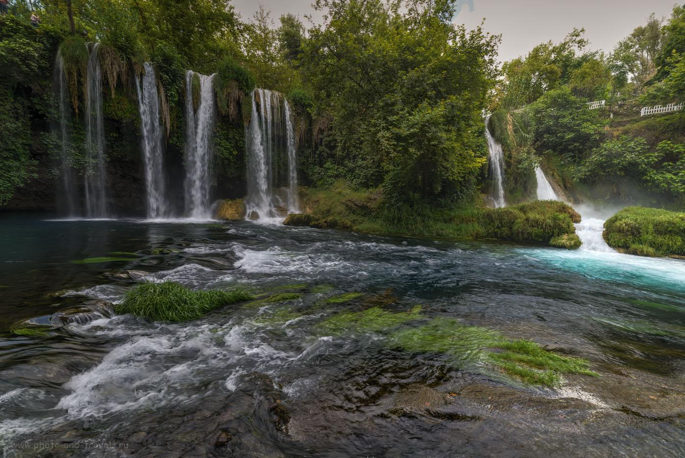 Фото 13. Водопад Верхний Дюден в Анталии. Отзывы туристов о самостоятельном отдыхе в Турции в мае 2016 года. HDR из 3-х кадров. Объектив Samayng 14mm f/2.8. Снято с рук, без использования штатива Sirui T-2204X.