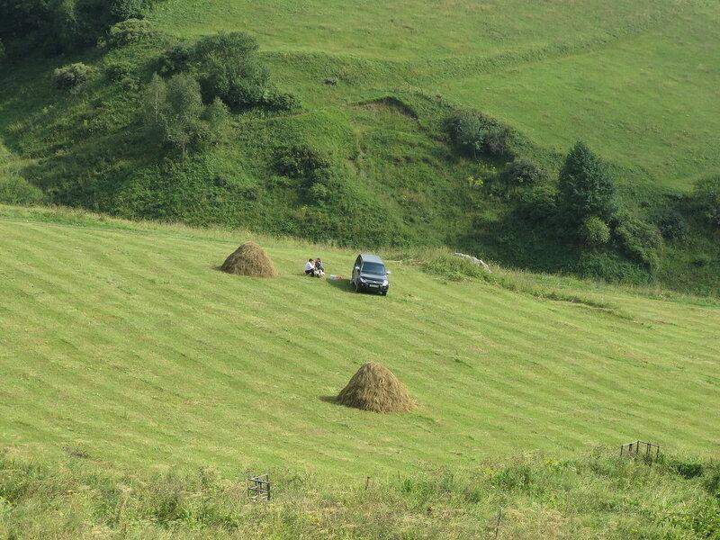 Пикник у Бейни после подъема на Столовую гору