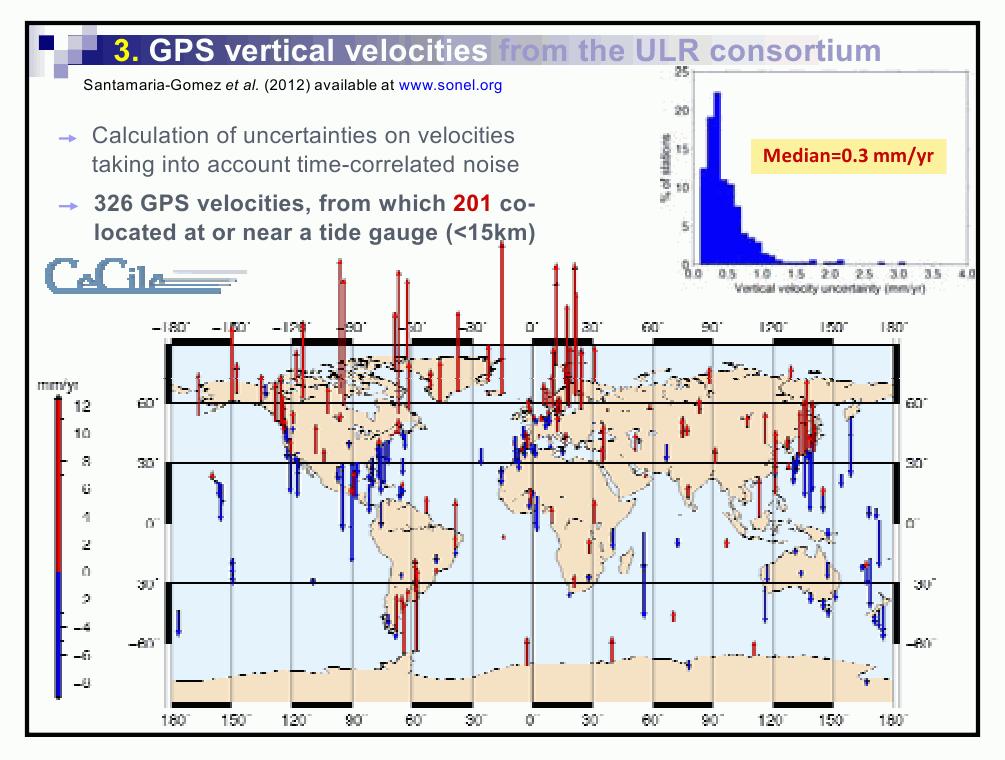 Карта вертикальных движений земной коры