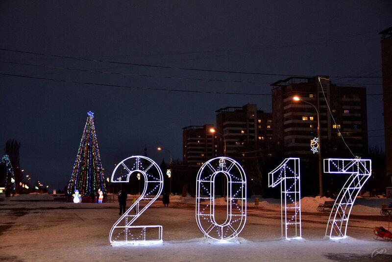 Новогодняя ёлка, г. Волжский