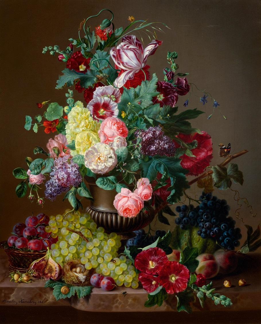 Still life of flowers, 1862