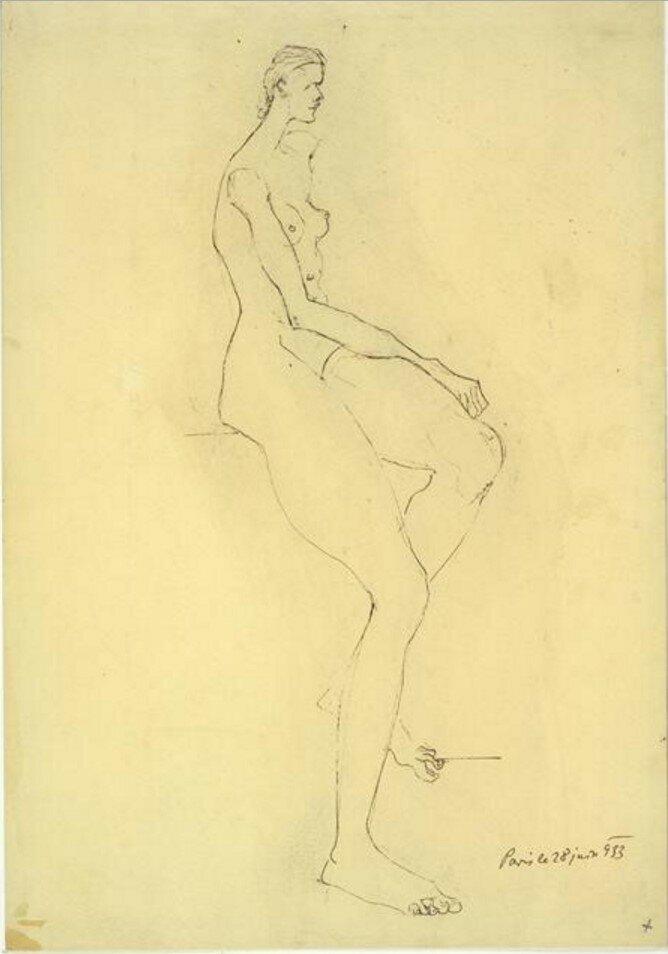 1933. Сидящая женщина