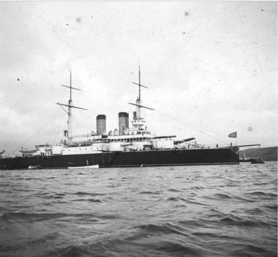Эскадренный броненосец «Ростислав» в ялтинской гавани