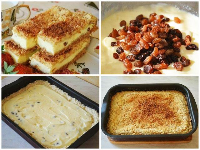 Как приготовить пирог творожный рецепт фото