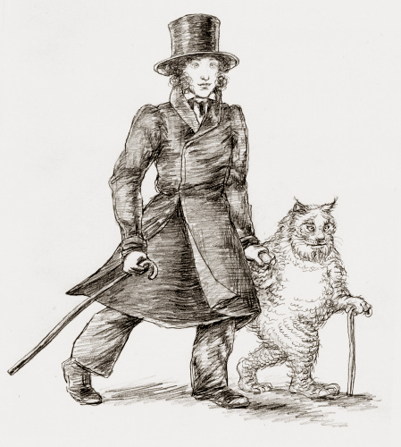 Владимир Фоканов. Пушкин и кот ученый.jpg