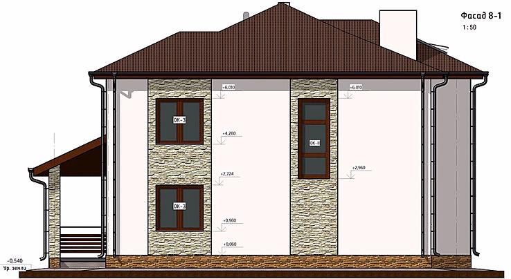 частный дом, проект, фасад