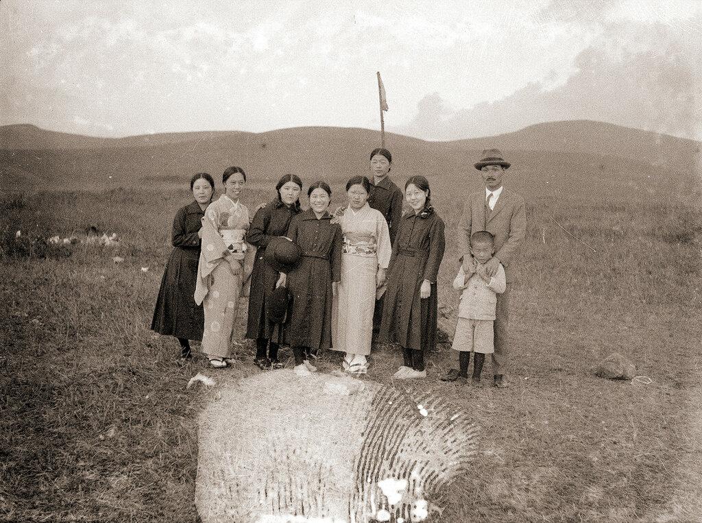 Group Photo at Kirigamine Japan, 1930s