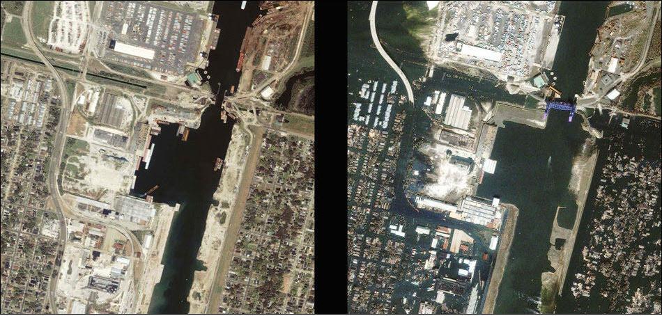 15. Нью-Орлеан, до и после Катрины.