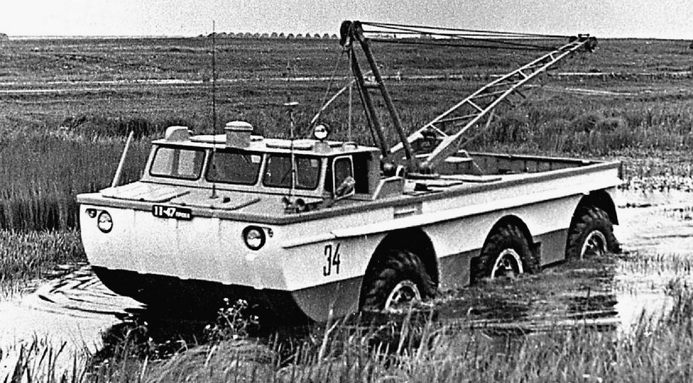 Испытания грузовой поисковой машины с трехтонным поворотным краном
