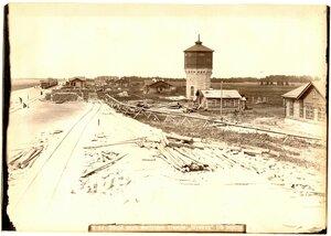 Общий вид постройки станции Шумиха, 116 верста