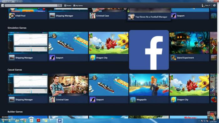Социальная сеть Facebook создаст свою игровую платформу