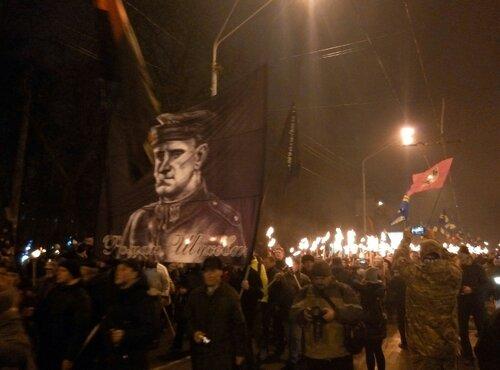 день рождения Бандеры факельное шествие киев 1 января 2017 год