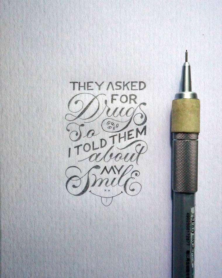 Miniature Typography - The beautiful creations of Dexa Muamar