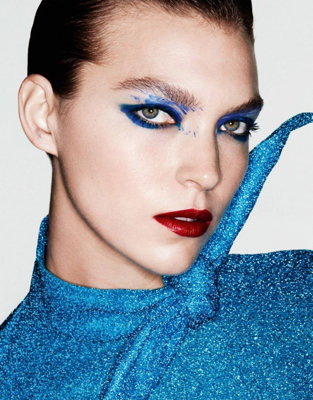 Supermodel Arizona Muse teams up with fashion photographer Ben Hassett for Couleurs Primaires beauty