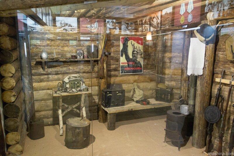 Макет партизанской землянки, Музей «Смоленщина в годы Великой Отечественной войны 1941—1945 гг.»