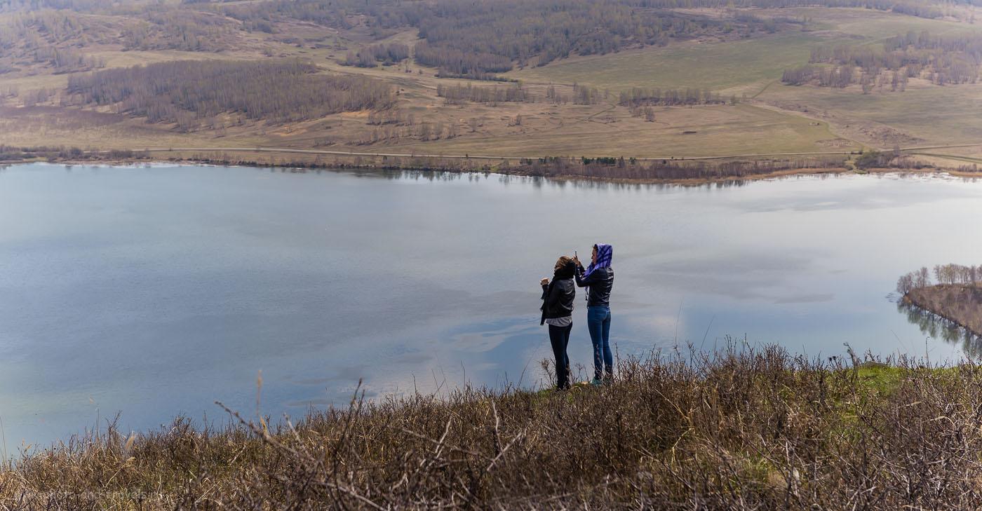 Фото 9. Никто не сможет устоять перед соблазном сфотографировать чудесные пейзажи Башкирии, озера Аушкуль, находясь на вершине горы Ауштау. Отчет о поездке выходного дня на автомобиле. 1/250, -1.0, 8.0, 100 (использовался полярик Hoya HD Circular-PL).