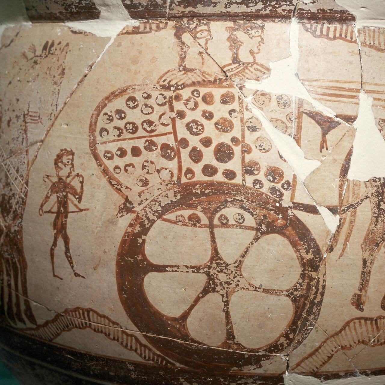 Микенский кратер из Пелиона, начало XIV в. до н.э. В традиционном критском дворцовом стиле