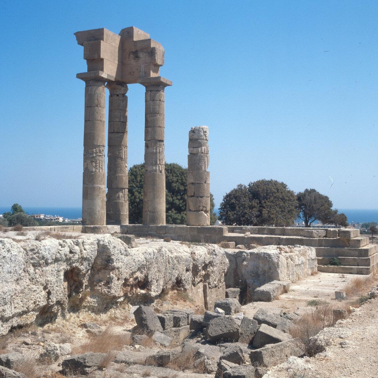 Родосский акрополь на горе Монте Смит. Храм Аполлона Пифийского, II в. до н. э.