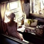 Девушка в вагоне