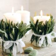 Свечи с цветами