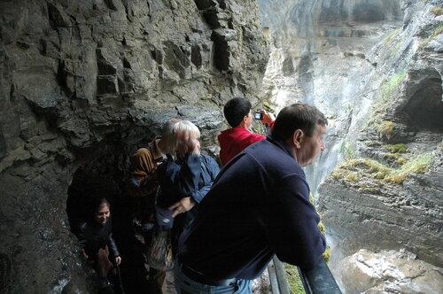 Каньон Джонстон в Скалистых горах Канады.