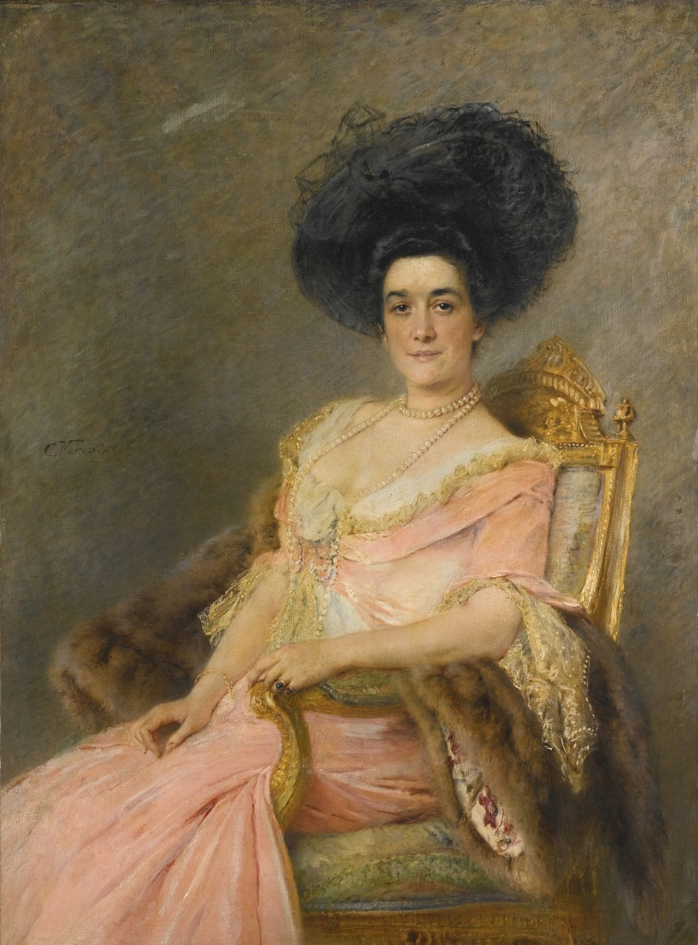 LADY IN PINK (PORTRAIT OF MARINA IONINA).