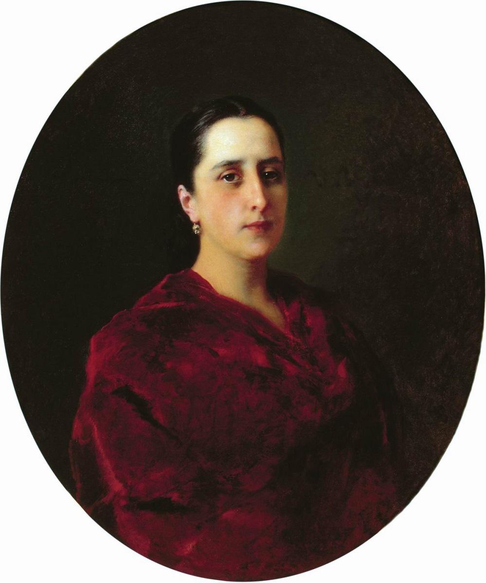 Портрет неизвестной в красном платье Волгоградский музей изобразительных искусств им. И.И.Машкова.