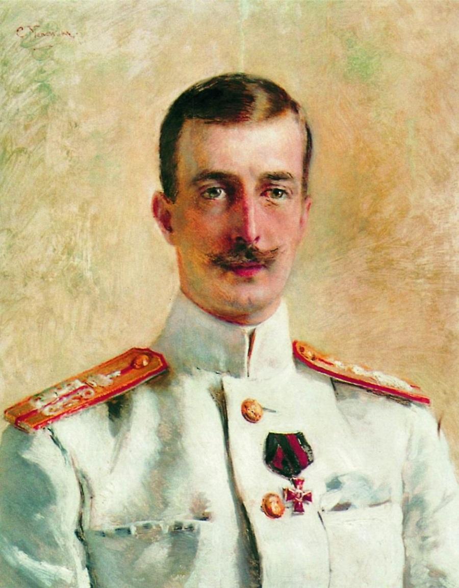 Портрет великого князя Кирилла Владимировича, старшего сына великого князя Владимира Александровича, брата императора Александра III. 1880-е. Частное собрание